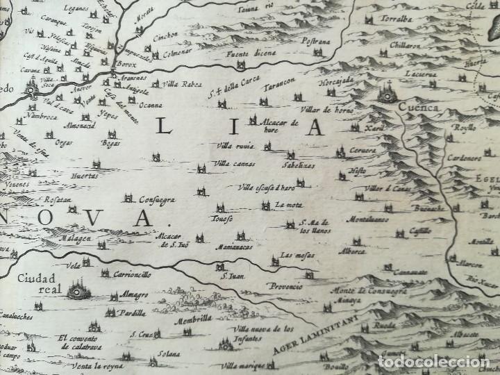 Arte: MAPA DE CASTILLA - W. BLAEU - AÑO 1634 PRIMERA EDICION - ORIGINAL - Foto 9 - 141069342