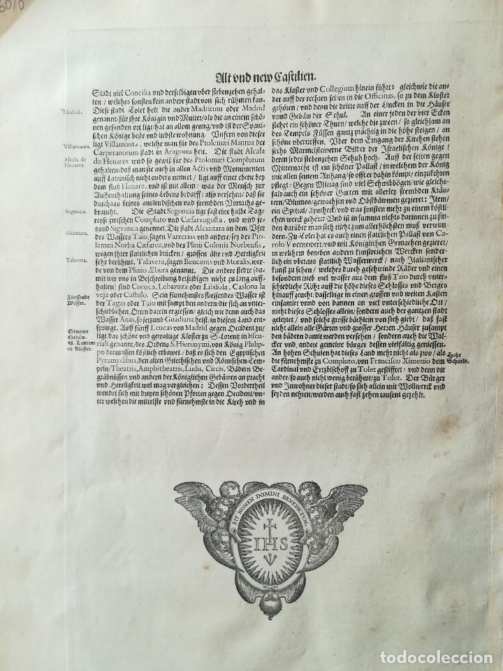 Arte: MAPA DE CASTILLA - W. BLAEU - AÑO 1634 PRIMERA EDICION - ORIGINAL - Foto 11 - 141069342