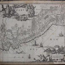 Arte: MAPA DE PERÚ (AMÉRICA DEL SUR), 1671. JONH OGILBY . Lote 141102038