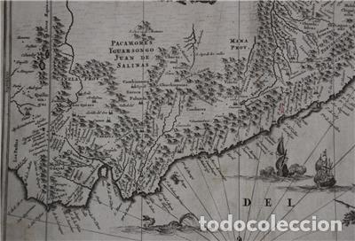 Arte: Mapa de Perú (América del Sur), 1671. Jonh Ogilby - Foto 4 - 141102038