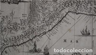 Arte: Mapa de Perú (América del Sur), 1671. Jonh Ogilby - Foto 5 - 141102038
