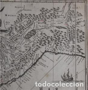Arte: Mapa de Perú (América del Sur), 1671. Jonh Ogilby - Foto 6 - 141102038