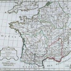 Arte: MAPA ANTIGUO DE FRANCIA VAUGONDY 1795 CON CERTIF. AUTENTICIDAD. MAPAS ANTIGUOS FRANCIA. Lote 141465702