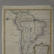 Arte: MAPA DE AMÉRICA DEL SUR, HACIA 1770. THOMAS JEFFERYS. Lote 141497496