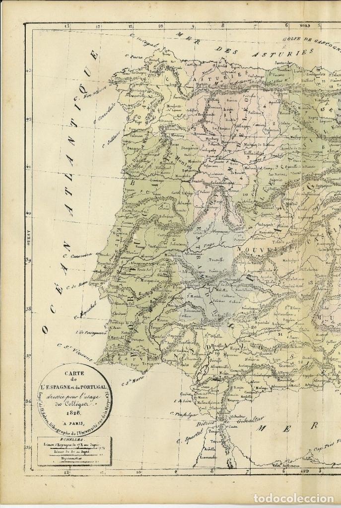 MAPA DE ESPAÑA Y PORTUGAL, 1838. SELVES (Arte - Cartografía Antigua (hasta S. XIX))