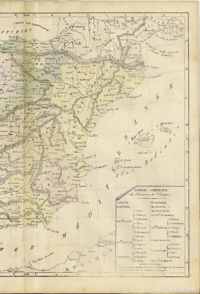 Arte: Mapa de España y Portugal, 1838. Selves - Foto 2 - 141507150