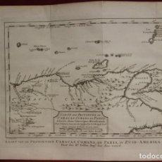 Art: MAPA DE CARACAS E ISLAS ANTILLAS MENORES ( VENEZUELA, AMÉRICA DEL SUR), 1770. BELLIN/SCHLEY/PREVOST. Lote 141507646