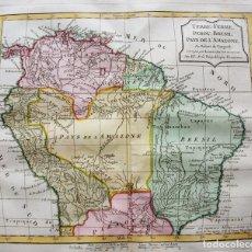 Arte: MAPA DE VENEZUELA, COLOMBIA, PERÚ, BRASIL,... (AMÉRICA DEL SUR), 1795. VAUGONDY/DELAMARCHE/DUSSY. Lote 141507809