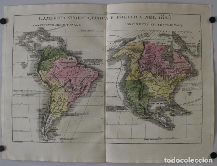 MAPA DE AMÉRICA DEL SUR Y NORTE EN 1825, 1832. GIROLAMOTASSO (Arte - Cartografía Antigua (hasta S. XIX))