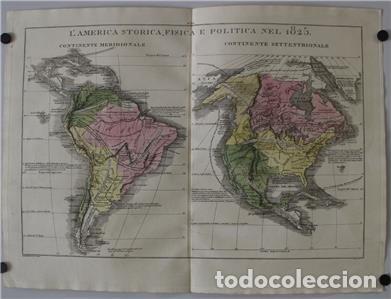 Arte: Mapa de América del Sur y Norte en 1825, 1832. GirolamoTasso - Foto 2 - 141507906