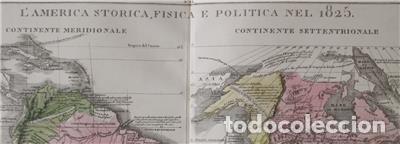 Arte: Mapa de América del Sur y Norte en 1825, 1832. GirolamoTasso - Foto 3 - 141507906