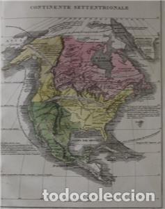 Arte: Mapa de América del Sur y Norte en 1825, 1832. GirolamoTasso - Foto 4 - 141507906