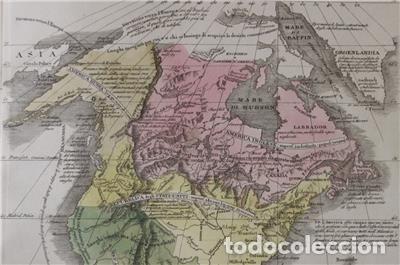 Arte: Mapa de América del Sur y Norte en 1825, 1832. GirolamoTasso - Foto 5 - 141507906