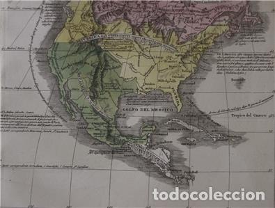Arte: Mapa de América del Sur y Norte en 1825, 1832. GirolamoTasso - Foto 6 - 141507906