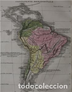 Arte: Mapa de América del Sur y Norte en 1825, 1832. GirolamoTasso - Foto 7 - 141507906