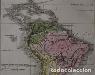 Arte: Mapa de América del Sur y Norte en 1825, 1832. GirolamoTasso - Foto 8 - 141507906
