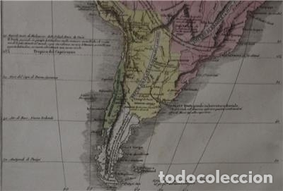 Arte: Mapa de América del Sur y Norte en 1825, 1832. GirolamoTasso - Foto 9 - 141507906