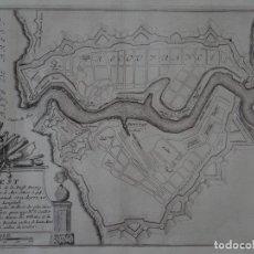 Arte: MAPA DE LA CIUDAD PORTUARIA DE BREST, BRETAÑA (FRANCIA), 1694. NICOLÁS DE FER. Lote 141508696