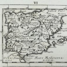 Arte: MAPA ESPAÑA Y PORTUGAL - MULLER - AÑO 1702. Lote 141546494