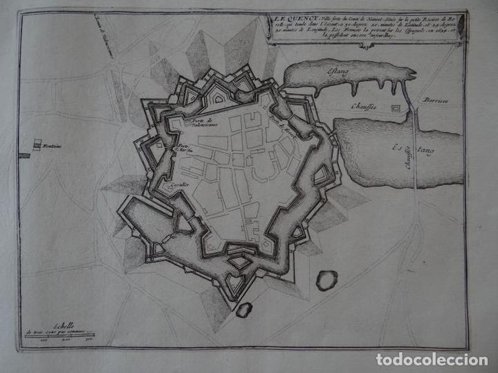 MAPA DE LA CIUDAD DE QUÉVY (BÉLGICA, EUROPA), 1694. NICOLÁS DE FER (Arte - Cartografía Antigua (hasta S. XIX))