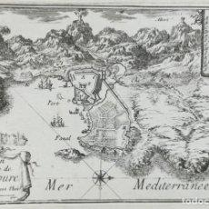Arte: GRABADO MAPA DE COLLIURE - BEAULIEU - AÑO 1707. Lote 141898450