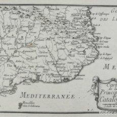 Arte: MAPA DE CATALUNYA - BEAULIEU - AÑO 1707 - ES ORIGINAL. Lote 141899310