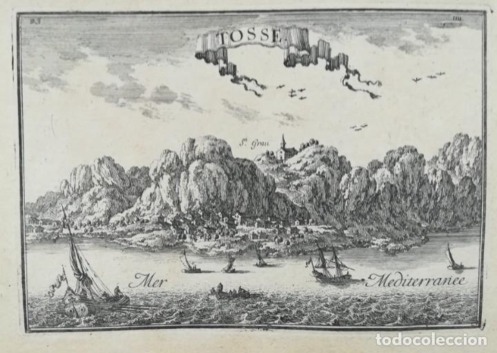 MAPA GRABADO DE TOSSA DE MAR - BEAULIEU - AÑO 1707 - ES ORIGINAL (Arte - Cartografía Antigua (hasta S. XIX))