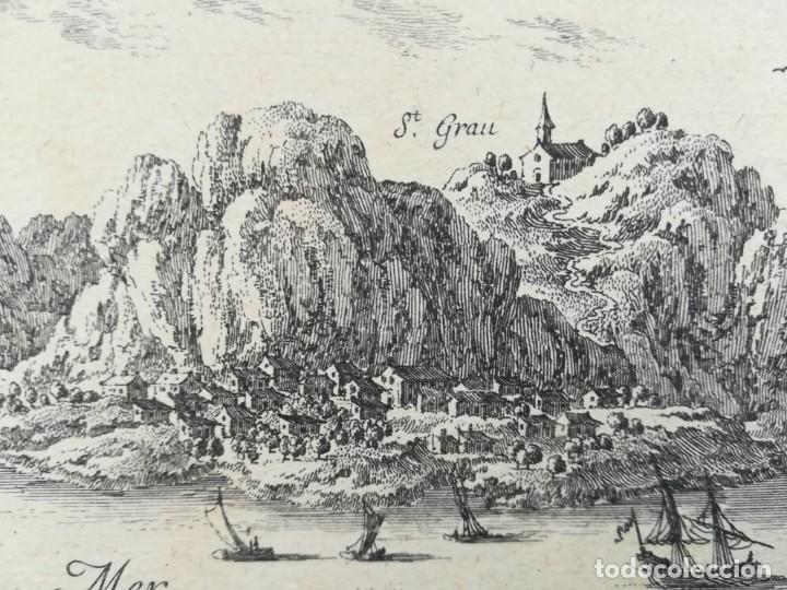 Arte: MAPA GRABADO DE TOSSA DE MAR - BEAULIEU - AÑO 1707 - ES ORIGINAL - Foto 2 - 142241222