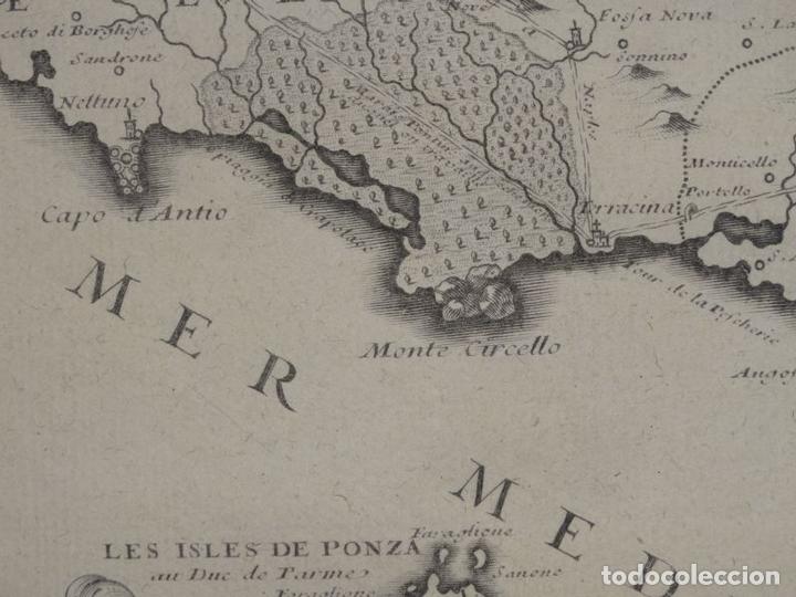 Arte: Mapa de los alrededores de la ciudad de Nápoles (Italia), 1705. Nicolás de Fer - Foto 10 - 142314953