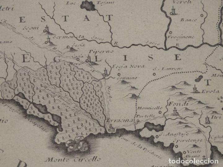 Arte: Mapa de los alrededores de la ciudad de Nápoles (Italia), 1705. Nicolás de Fer - Foto 17 - 142314953