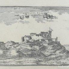 Arte: GRABADO CASTELDANS - CASTILLO CASTELL DASENS - BEAULIEU - AÑO 1707. Lote 142558822