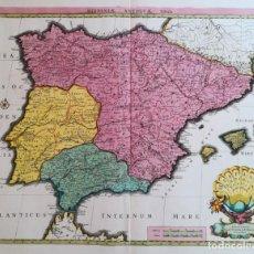 Arte: MAPA ESPAÑA Y PORTUGAL - HISPANIAE ANTIQUAE - COVENS MORTIER SANSON - AÑO 1720 - GRAN FORMATO. Lote 142680666