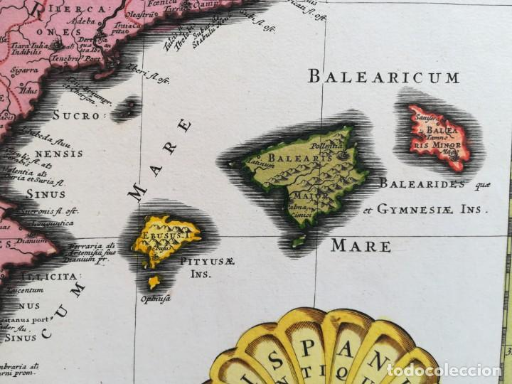 Arte: MAPA ESPAÑA Y PORTUGAL - HISPANIAE ANTIQUAE - COVENS MORTIER SANSON - AÑO 1720 - GRAN FORMATO - Foto 3 - 142680666