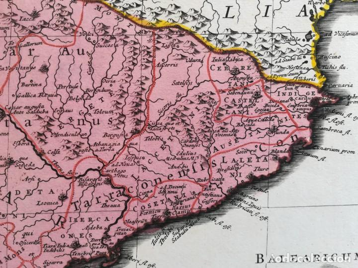 Arte: MAPA ESPAÑA Y PORTUGAL - HISPANIAE ANTIQUAE - COVENS MORTIER SANSON - AÑO 1720 - GRAN FORMATO - Foto 7 - 142680666