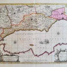 Arte: MAPA DE GRANADA MURCIA ANDALUCIA - VALCK - AÑO 1702 - ORIGINAL. Lote 143039842