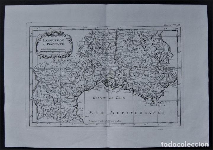 MAPA DE LANGUEDOC (FRANCIA), 1750. BELLIN/PREVOST (Arte - Cartografía Antigua (hasta S. XIX))