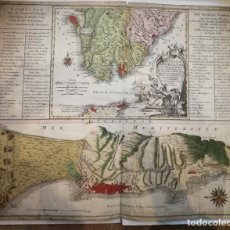 Arte: GRABADO DEL ESTRECHO Y PEÑÓN DE GIBRALTAR.1770.TOBIAS LOTTER. ANDALUCÍA, CÁDIZ, MARBELLA, FUENGIROLA. Lote 143300206