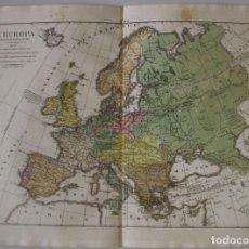 Arte: GRAN MAPA DE EUROPA, 1827. GIROLAMO TASSO. Lote 143324453