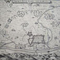 Arte: MAPA TOPOGRÁFICO DE LA CIUDAD DE TURIN Y ALREDEDORES (ITALIA), 1640. MERIAN. Lote 143542330