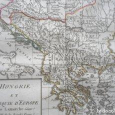 Arte: MAPA DE HUNGRÍA Y GRECIA (EUROPA), 1799. DELAMARCHE. Lote 143542705