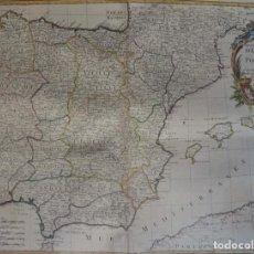 Arte: ESPAÑA Y PORTUGAL DE VAUGONDY/SANTINI, 1778, LES ROYAUMES D´ESPAGNE ET DE PORTUGAL…. Lote 143691102