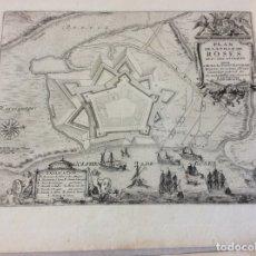 Arte: MAPA Y VISTA DE LA CIUDAD Y PUERTO DE ROSAS (GERONA, ESPAÑA), 1694. NICOLÁS DE FER. Lote 143943612