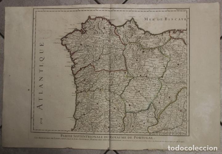 GRAN MAPA DEL NORTE DE PORTUGAL Y GALICIA, ASTURIAS, LEÓN, ... (ESPAÑA), 1778. JAILLOT /DEZAUCHE (Arte - Cartografía Antigua (hasta S. XIX))
