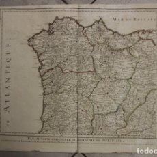 Arte: GRAN MAPA DEL NORTE DE PORTUGAL Y GALICIA, ASTURIAS, LEÓN, ... (ESPAÑA), 1778. JAILLOT /DEZAUCHE. Lote 143943665