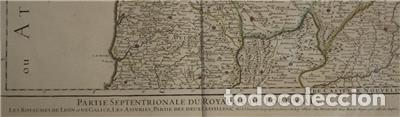Arte: Gran mapa del norte de Portugal y Galicia, Asturias, León, ... (España), 1778. Jaillot /Dezauche - Foto 3 - 143943665