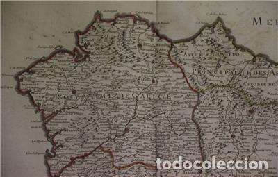 Arte: Gran mapa del norte de Portugal y Galicia, Asturias, León, ... (España), 1778. Jaillot /Dezauche - Foto 4 - 143943665