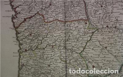 Arte: Gran mapa del norte de Portugal y Galicia, Asturias, León, ... (España), 1778. Jaillot /Dezauche - Foto 5 - 143943665