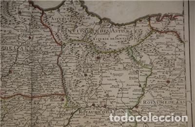 Arte: Gran mapa del norte de Portugal y Galicia, Asturias, León, ... (España), 1778. Jaillot /Dezauche - Foto 6 - 143943665