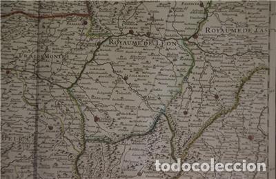 Arte: Gran mapa del norte de Portugal y Galicia, Asturias, León, ... (España), 1778. Jaillot /Dezauche - Foto 7 - 143943665