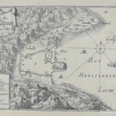 Arte: MAPA PLANO DE CADAQUES - BEAULIEU - AÑO 1707 - ES ORIGINAL. Lote 143977894